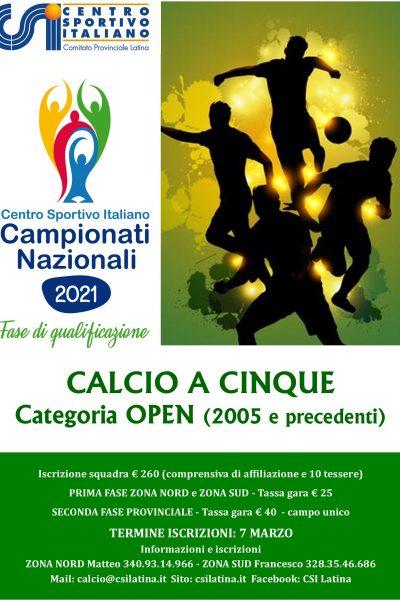 Calcio a 5: indizione campionati Nazionali – girone Latina
