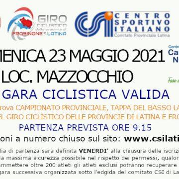 LIVE e CLASSIFICHE: DOMENICA 23 MAGGIO CICLISMO SU STRADA MAZZOCCHIO
